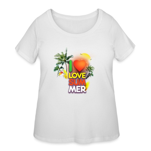 I love summer - Women's Curvy T-Shirt