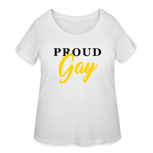Proud Gay T-Shirt - Women's Curvy T-Shirt