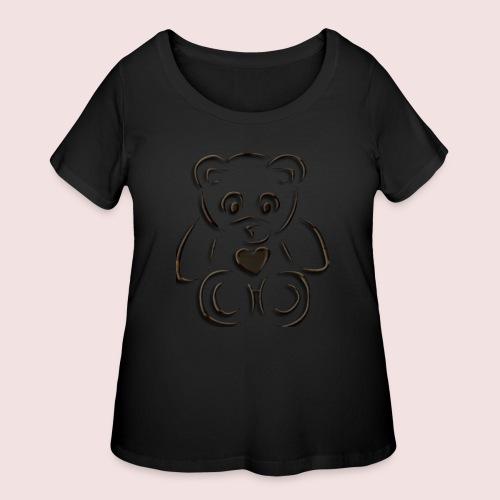 realistic teddy - Women's Curvy T-Shirt