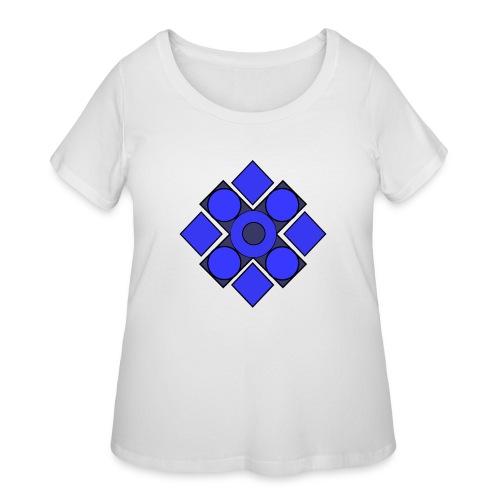 Geometric Cerulean - Women's Curvy T-Shirt