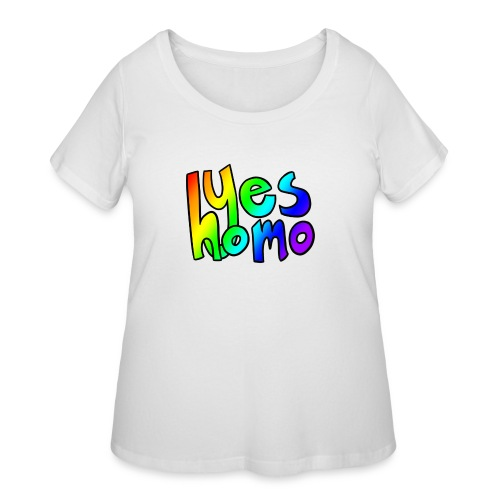 Yes Homo (Rainbow) - Women's Curvy T-Shirt