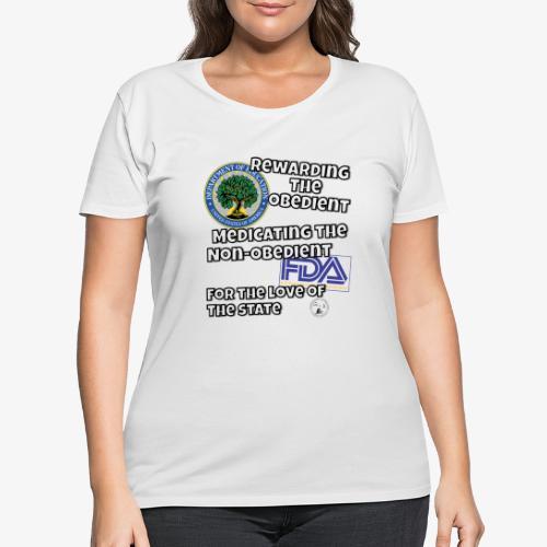 US Dept. of Education - Rewarding the Obedient... - Women's Curvy T-Shirt