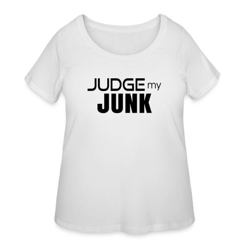 Judge my Junk Tshirt 03 - Women's Curvy T-Shirt