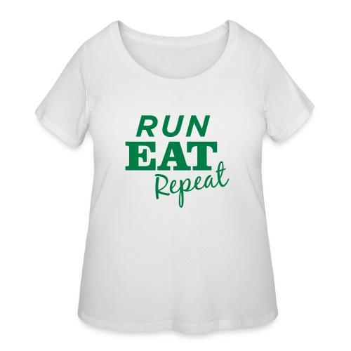 Run Eat Repeat buttons medium - Women's Curvy T-Shirt