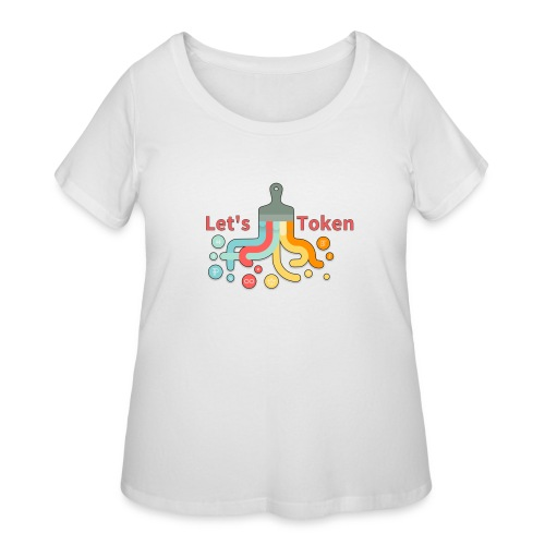 Let's Token by Glen Hendriks - Women's Curvy T-Shirt