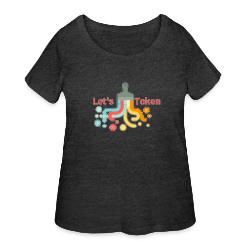 Let's Token by Glen Hendriks - Women's Curvy T-Shirt