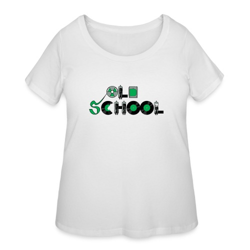 Old School Music - Women's Curvy T-Shirt