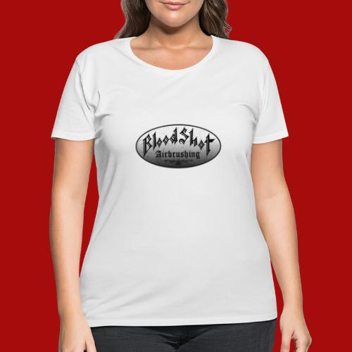 BloodShot Logo Black/White - Women's Curvy T-Shirt