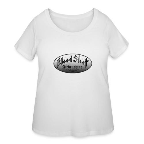 BloodShot Logo Black/White - Women's Curvy T-Shirt