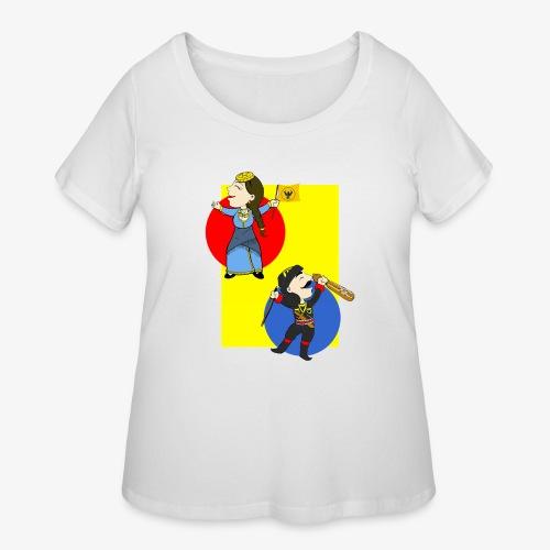 Cartoon - Pontios/lyra & Pontia/flag - Women's Curvy T-Shirt
