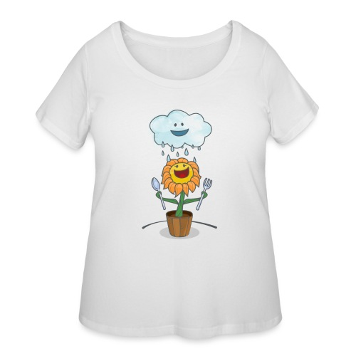 Cloud & Flower - Best friends forever - Women's Curvy T-Shirt