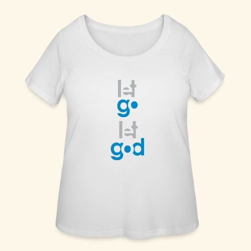 LET GO LET GOD GREY/BLUE #7 - Women's Curvy T-Shirt