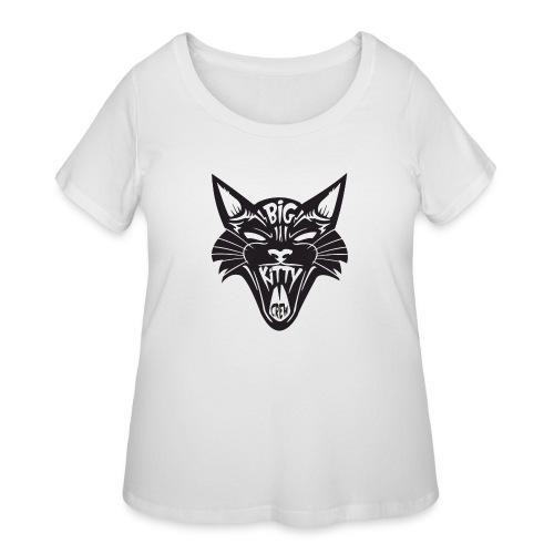 Big Kitty-Screaming Cat - Women's Curvy T-Shirt