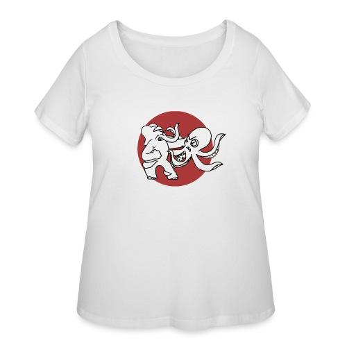 ElephantOctopusALT - Women's Curvy T-Shirt