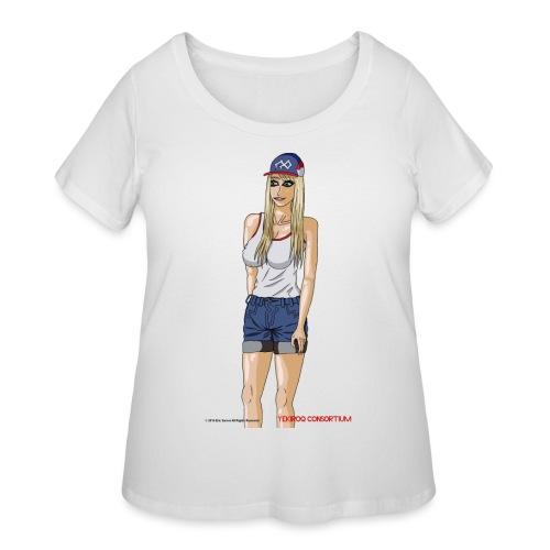 Gina Character Design - Women's Curvy T-Shirt