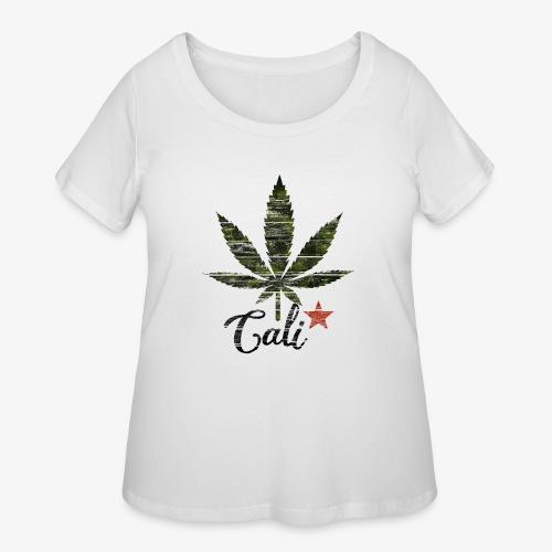 CaliStar.png - Women's Curvy T-Shirt