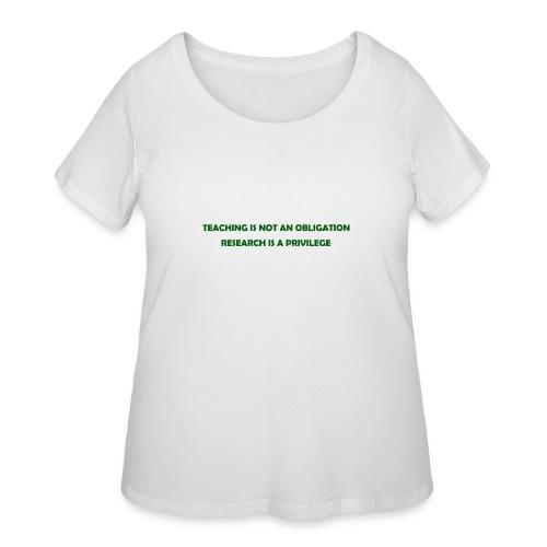 Teaching - Women's Curvy T-Shirt