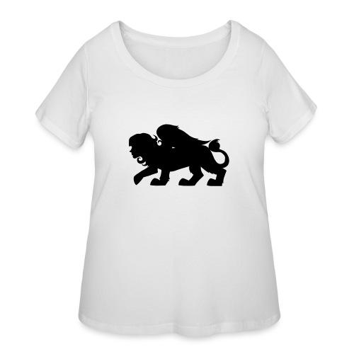 Sphynx Silhouette - Women's Curvy T-Shirt
