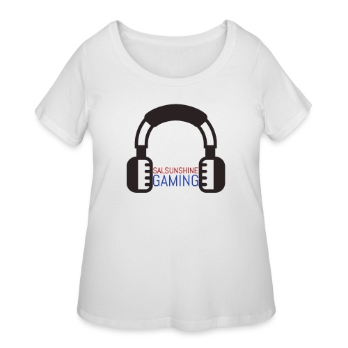 salsunshine gaming logo - Women's Curvy T-Shirt