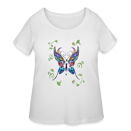 Bright Butterfly - Women's Curvy T-Shirt