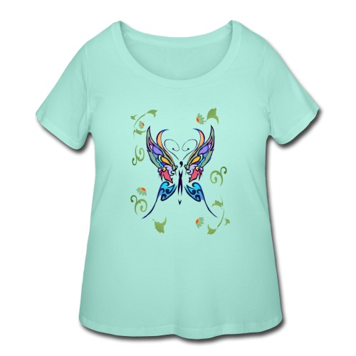 Bright Butterfly - Women's Curvy T-Shirt