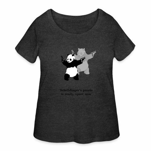 Schrödinger's panda is really upset now - Women's Curvy T-Shirt