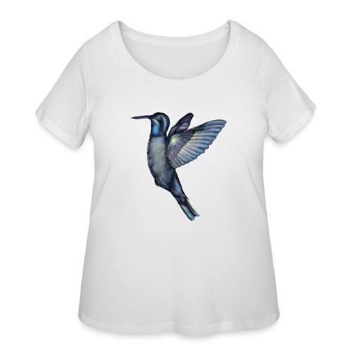 Hummingbird in flight - Women's Curvy T-Shirt
