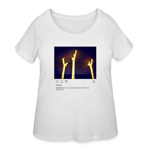 TREE LIGHT - Women's Curvy T-Shirt