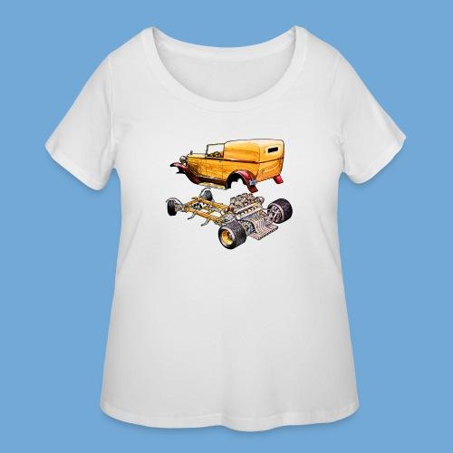 Hot rod body on frame - Women's Curvy T-Shirt