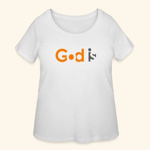 GOD IS #6 - Women's Curvy T-Shirt