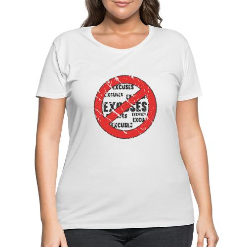 No Excuses | Vintage Style - Women's Curvy T-Shirt