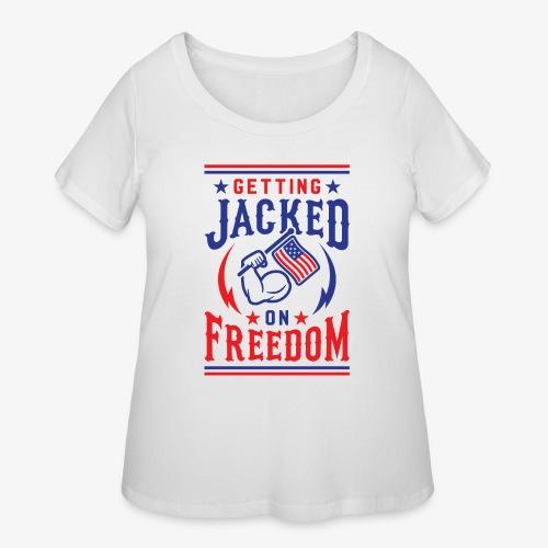 Getting Jacked On Freedom - Women's Curvy T-Shirt