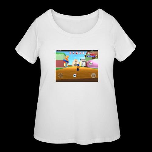 Roblox meep city - Women's Curvy T-Shirt