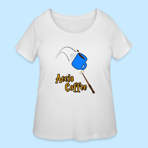 Accio Coffee MUG both v1 png - Women's Curvy T-Shirt