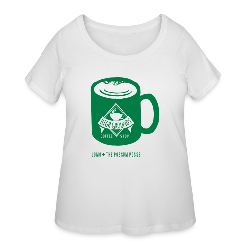 High Grounds Coffee Shop - Women's Curvy T-Shirt