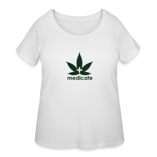 Medicate Supporter - Women's Curvy T-Shirt