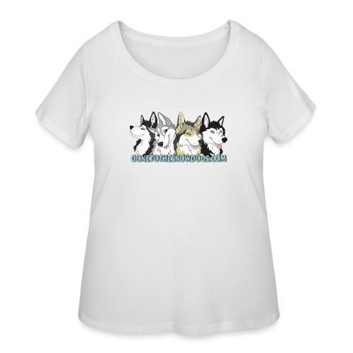 Siberian Husky Snow Dogs - Women's Curvy T-Shirt