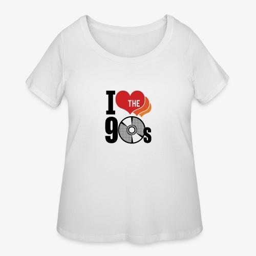 I love the 90s - Women's Curvy T-Shirt