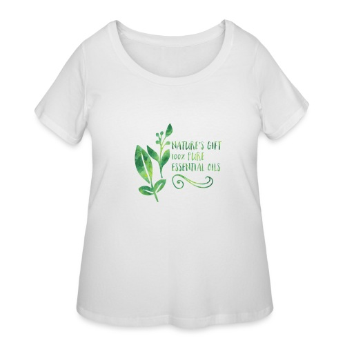 nature's gift essential oils - Women's Curvy T-Shirt
