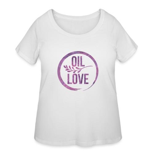 Oil Love Purple - Women's Curvy T-Shirt