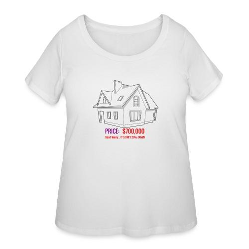 Fannie & Freddie Joke - Women's Curvy T-Shirt
