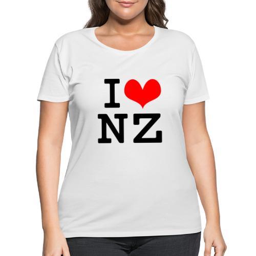 I Love NZ - Women's Curvy T-Shirt