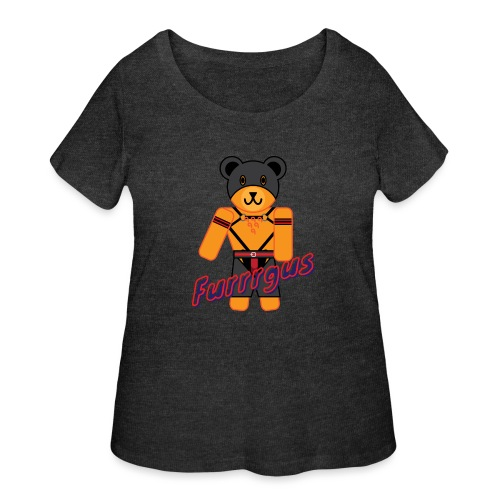 Leather Furrrgus - Women's Curvy T-Shirt