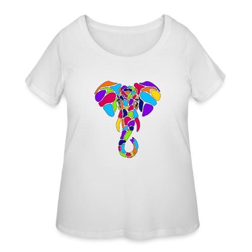 Art Deco elephant - Women's Curvy T-Shirt