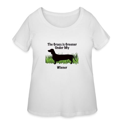 Wiener Greener Dachshund - Women's Curvy T-Shirt