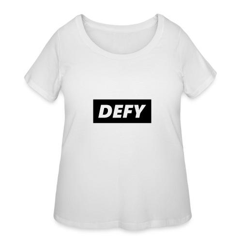 defy logo - Women's Curvy T-Shirt