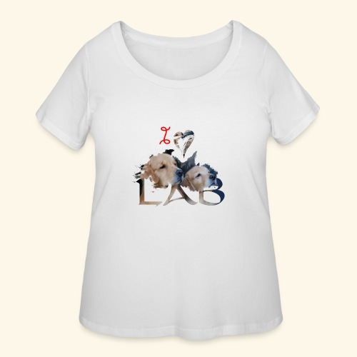 I love Lab - Women's Curvy T-Shirt