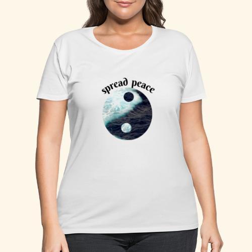 spread peace - Women's Curvy T-Shirt