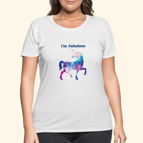 I'm Fabulous Unicorn - Women's Curvy T-Shirt