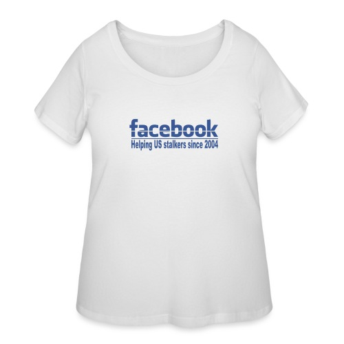 Helping US stalkers - Women's Curvy T-Shirt